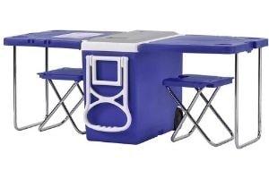 mesa nevera camping playa